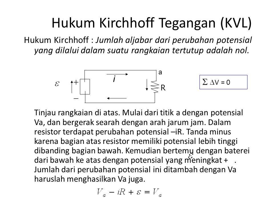 Hukum Kirchhoff Tegangan (KVL)