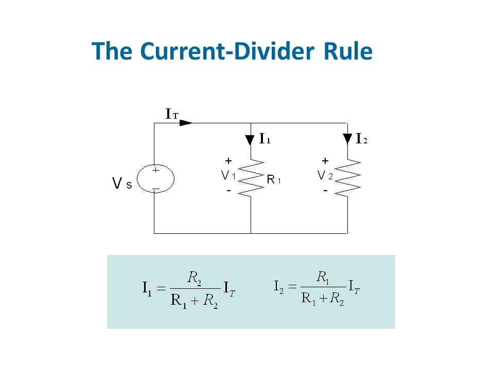 The Current-Divider Rule
