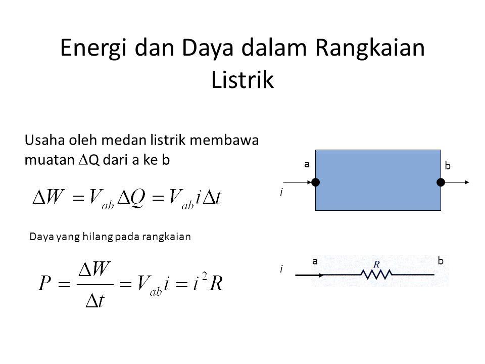 Energi dan Daya dalam Rangkaian Listrik