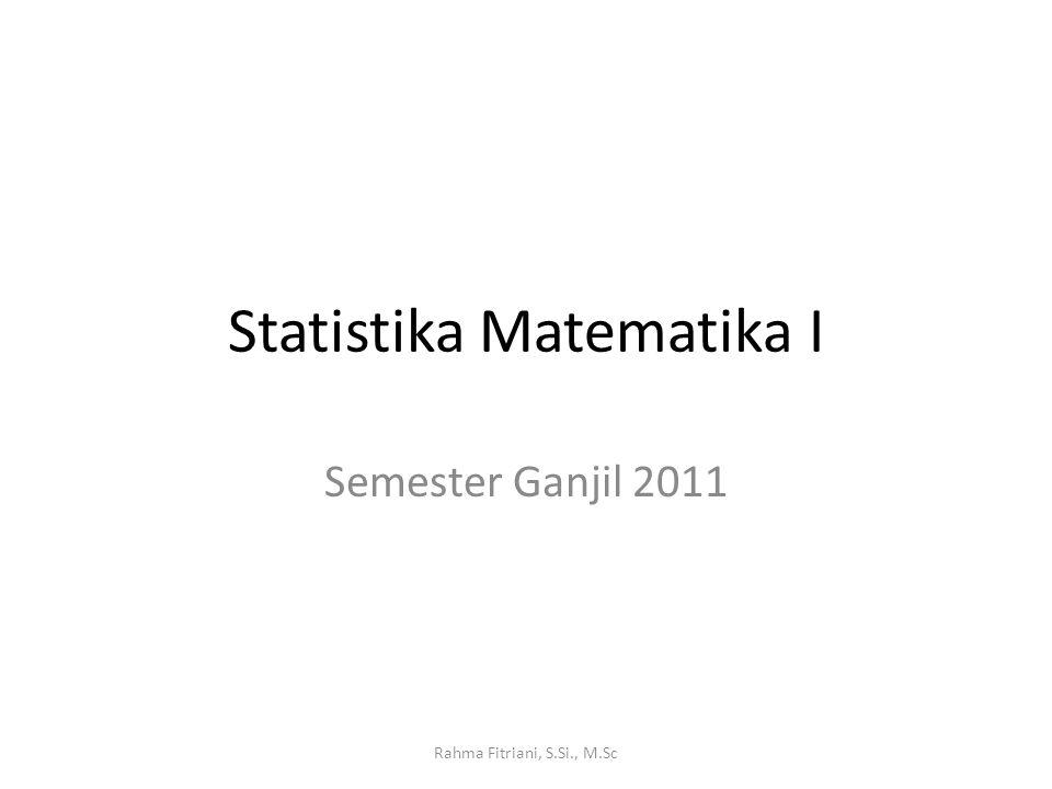 Statistika Matematika I