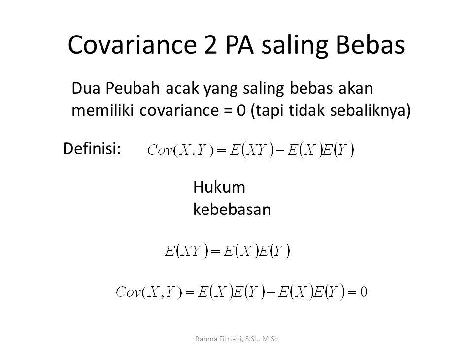 Covariance 2 PA saling Bebas