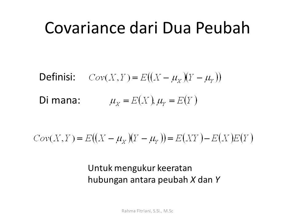Covariance dari Dua Peubah