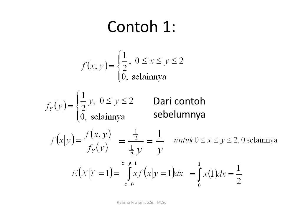 Contoh 1: Dari contoh sebelumnya Rahma Fitriani, S.Si., M.Sc