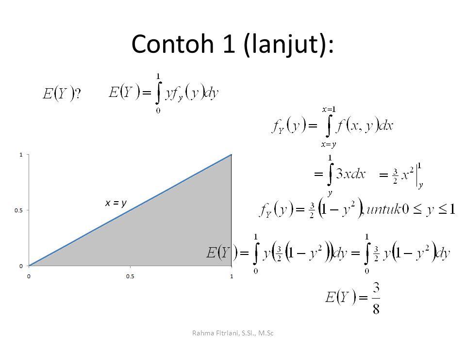 Contoh 1 (lanjut): x = y Rahma Fitriani, S.Si., M.Sc