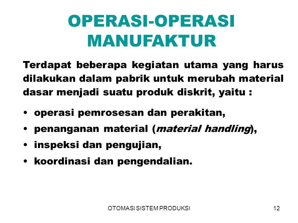 OPERASI-OPERASI MANUFAKTUR