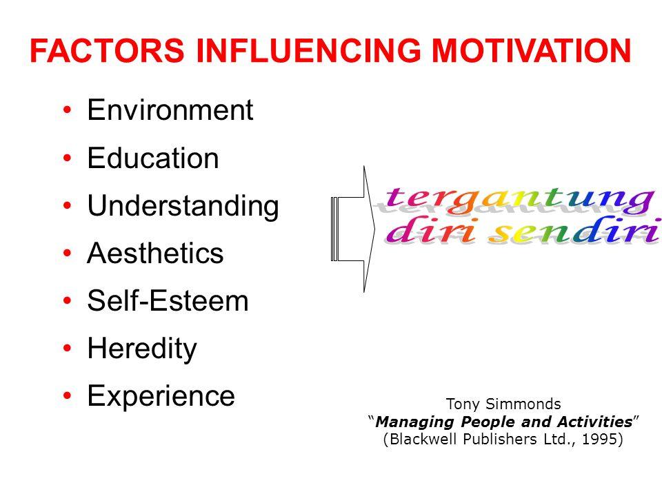 FACTORS INFLUENCING MOTIVATION