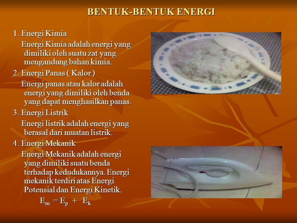 BENTUK-BENTUK ENERGI 1. Energi Kimia