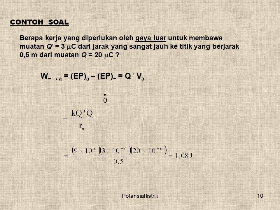 W~  a = (EP)a – (EP)~ = Q ′ Va