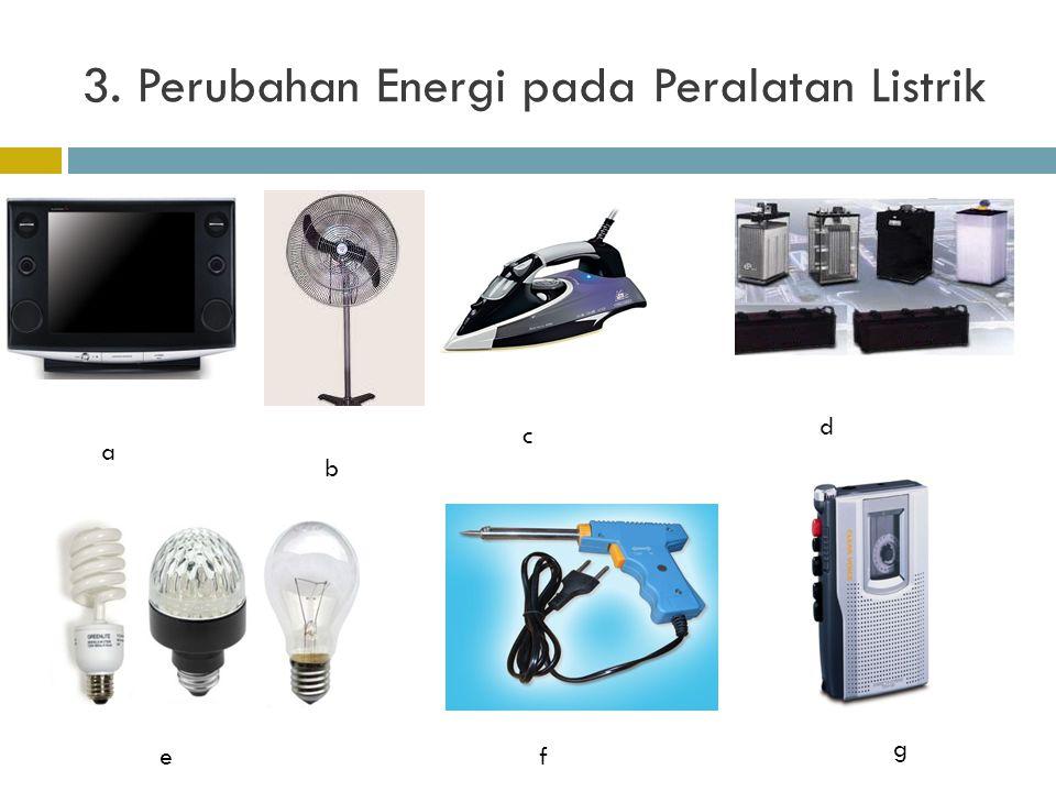 3. Perubahan Energi pada Peralatan Listrik