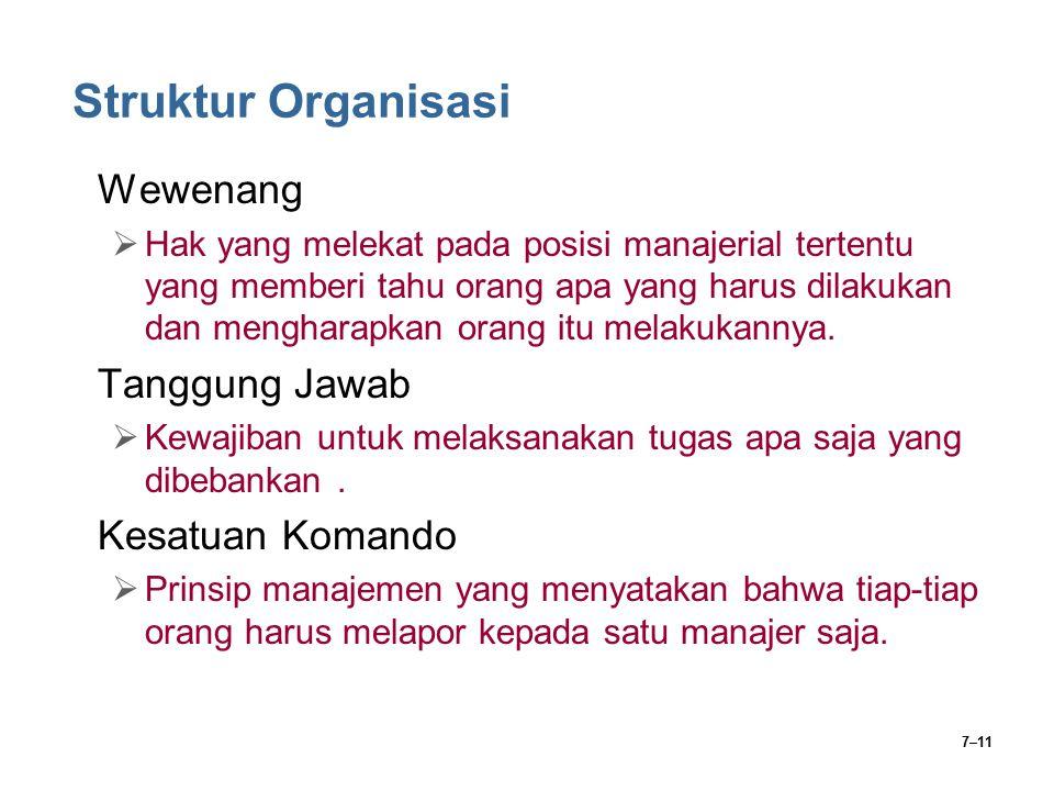 Struktur Organisasi Wewenang Tanggung Jawab Kesatuan Komando