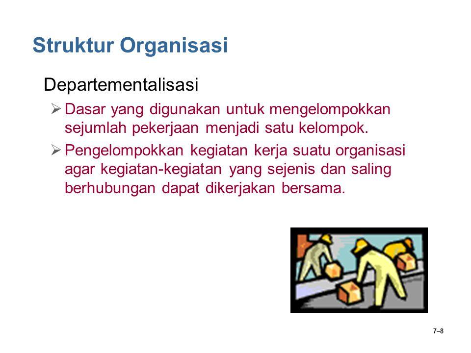 Struktur Organisasi Departementalisasi