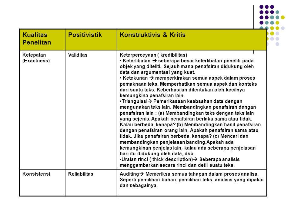 Konstruktivis & Kritis