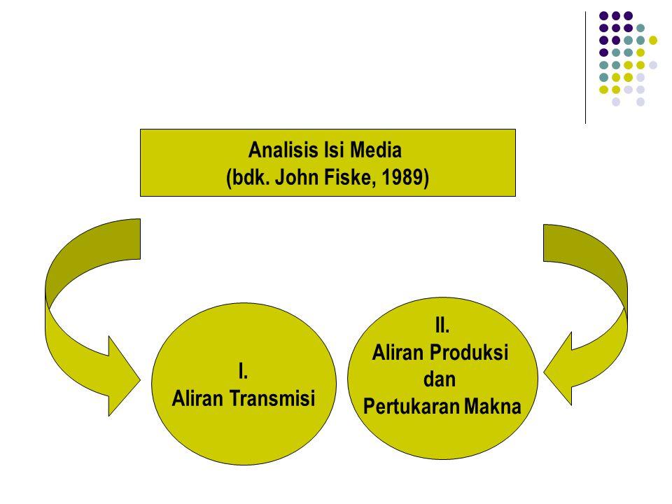 Analisis Isi Media (bdk. John Fiske, 1989) II. Aliran Produksi.