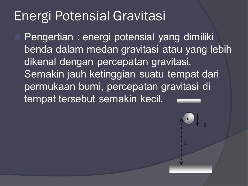 Energi Potensial Gravitasi