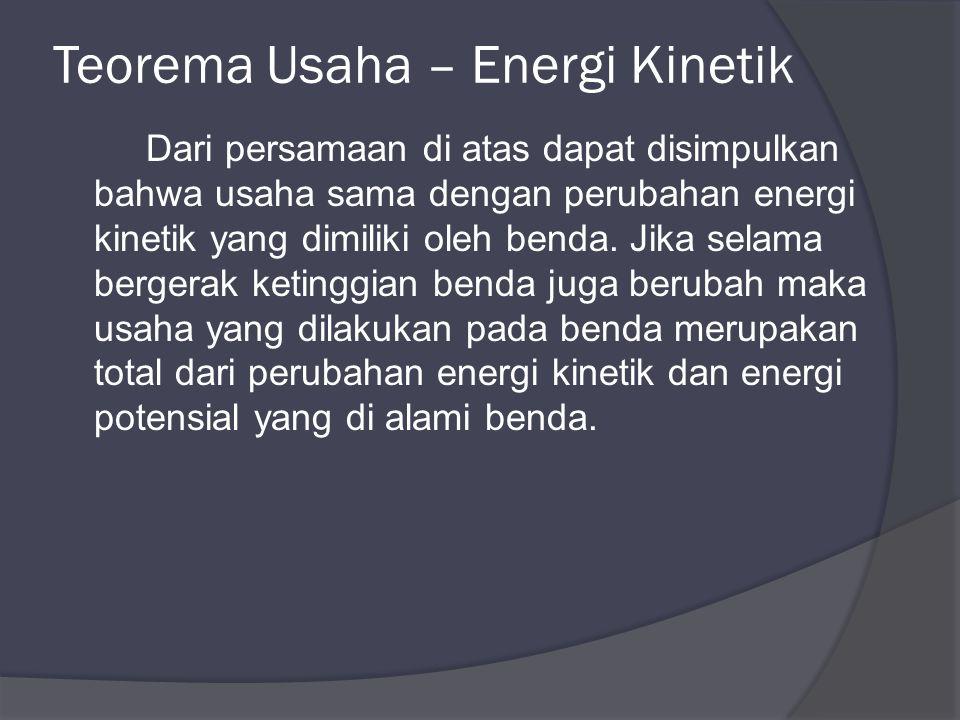 Teorema Usaha – Energi Kinetik