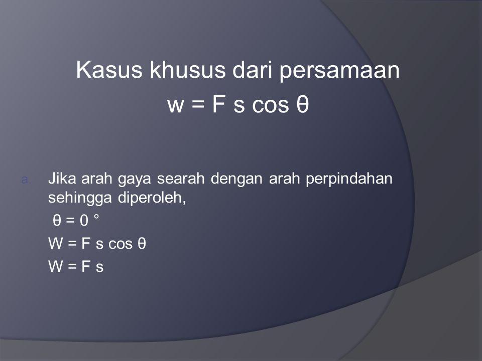Kasus khusus dari persamaan