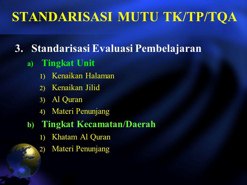 STANDARISASI MUTU TK/TP/TQA