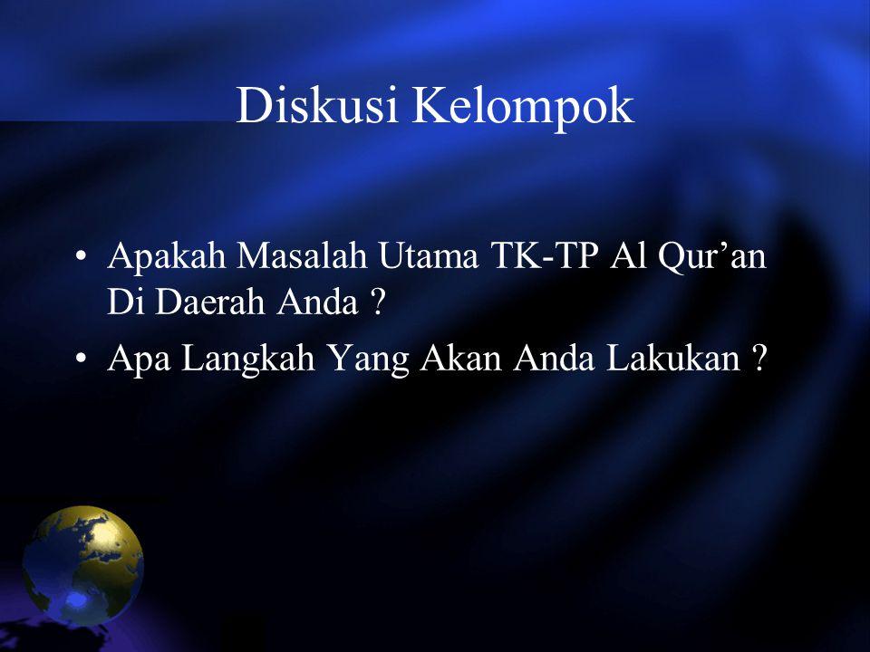 Diskusi Kelompok Apakah Masalah Utama TK-TP Al Qur'an Di Daerah Anda