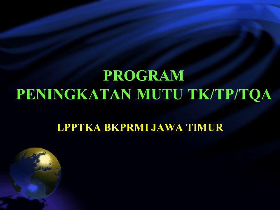 PROGRAM PENINGKATAN MUTU TK/TP/TQA