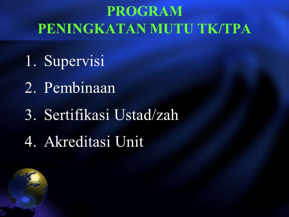 PROGRAM PENINGKATAN MUTU TK/TPA