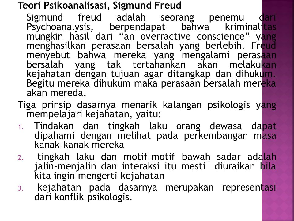 Teori Psikoanalisasi, Sigmund Freud