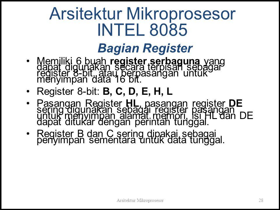 Arsitektur Mikroprosesor INTEL 8085 Bagian Register