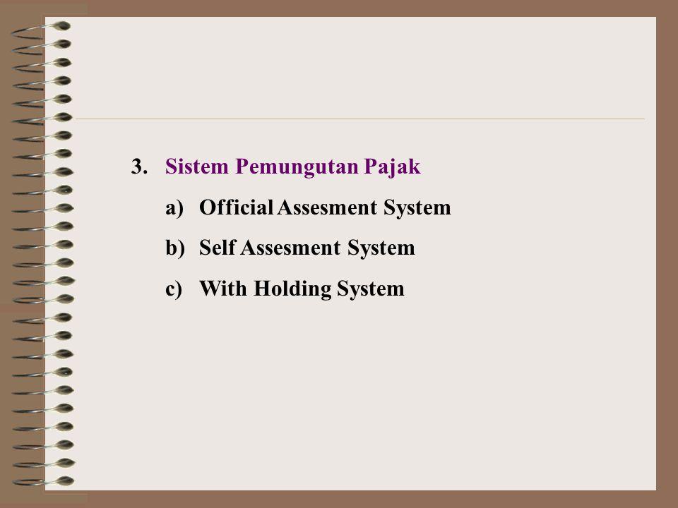 3. Sistem Pemungutan Pajak