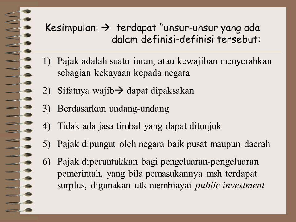 Kesimpulan:  terdapat unsur-unsur yang ada dalam definisi-definisi tersebut: