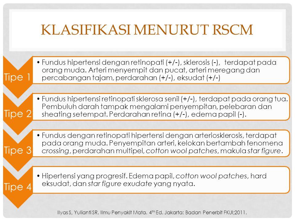Klasifikasi menurut RSCM