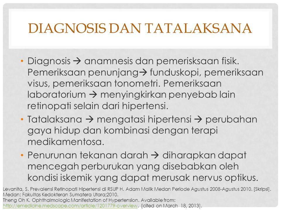 Diagnosis dan tatalaksana