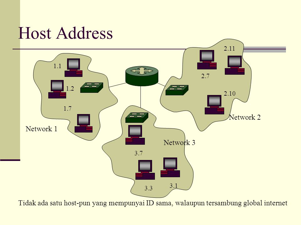Host Address Network 2 Network 1 Network 3