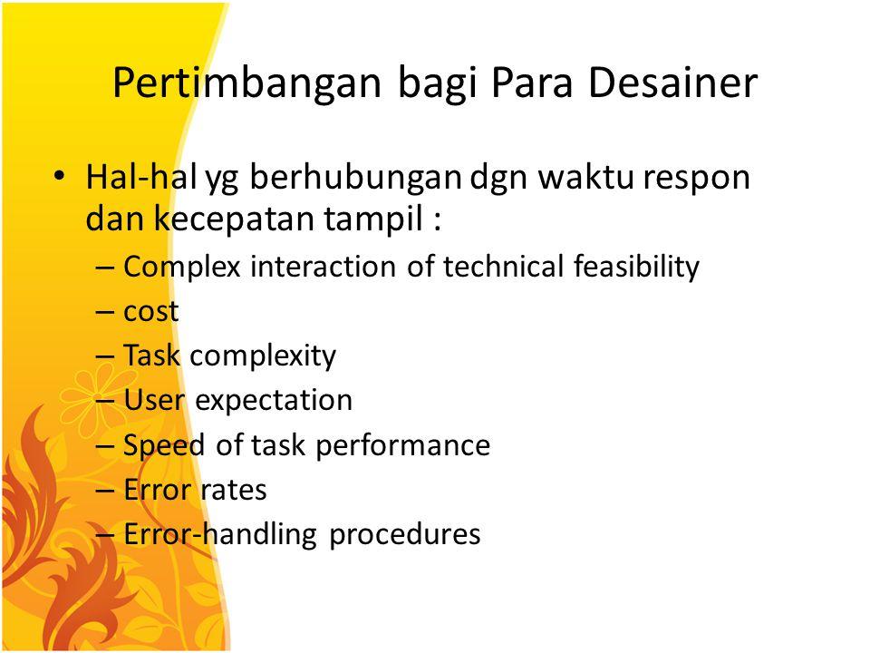 Pertimbangan bagi Para Desainer