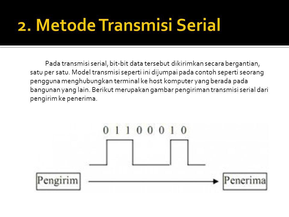 2. Metode Transmisi Serial