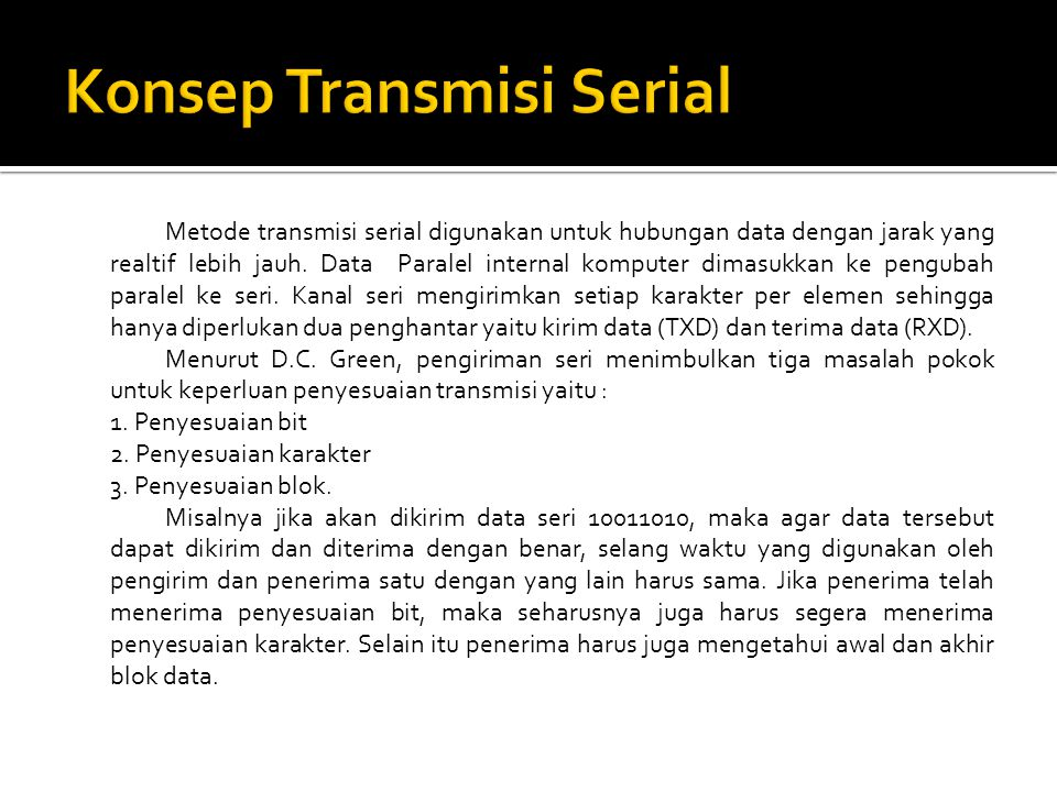 Konsep Transmisi Serial