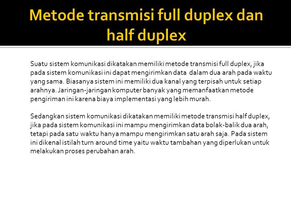 Metode transmisi full duplex dan half duplex