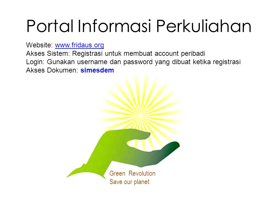 Portal Informasi Perkuliahan