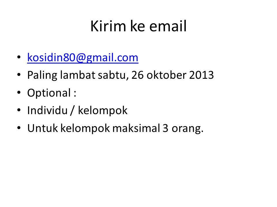 Kirim ke email kosidin80@gmail.com