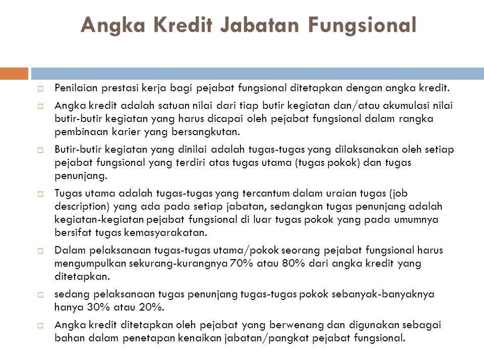 Angka Kredit Jabatan Fungsional