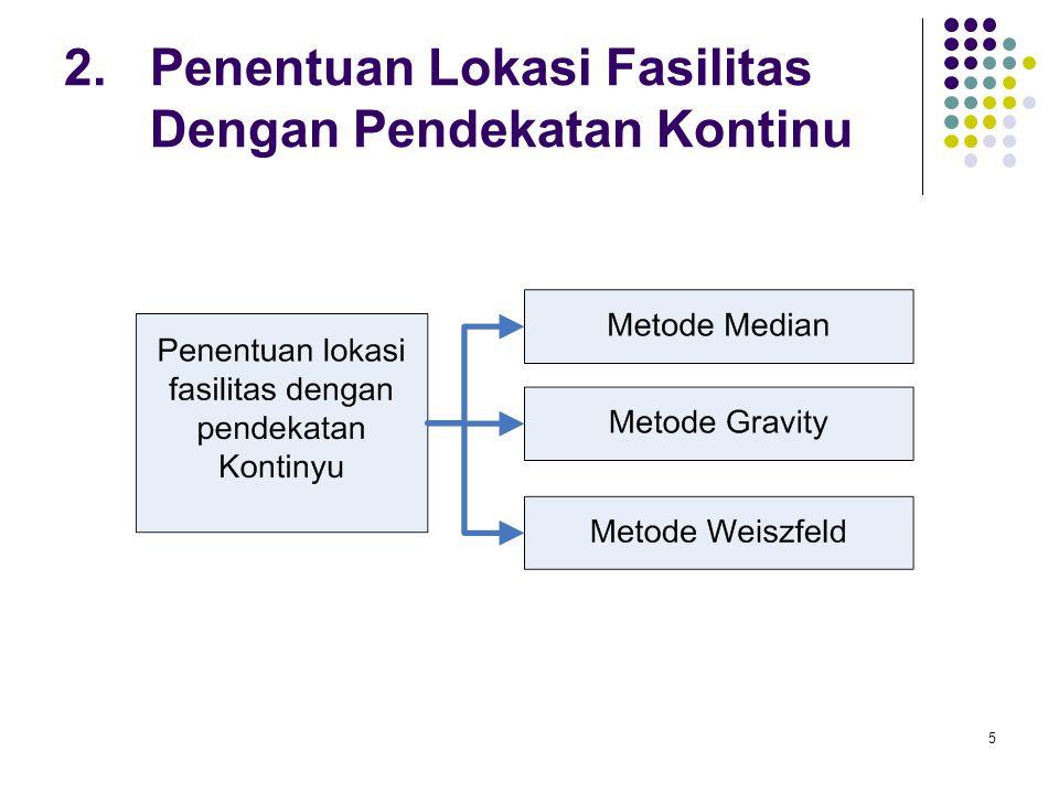 2. Penentuan Lokasi Fasilitas Dengan Pendekatan Kontinu