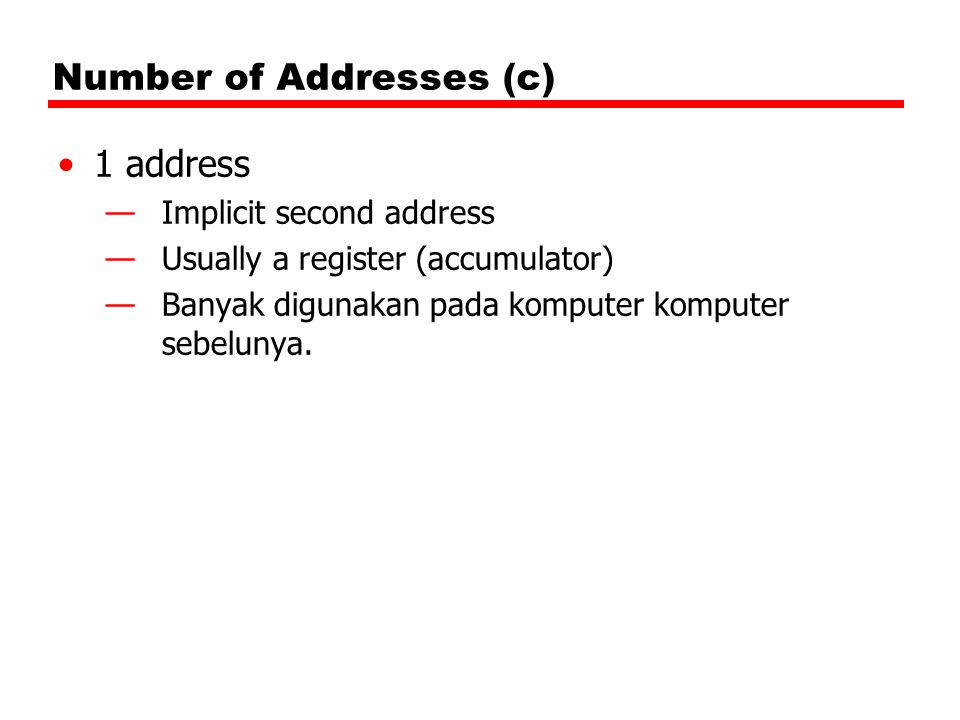 Number of Addresses (c)