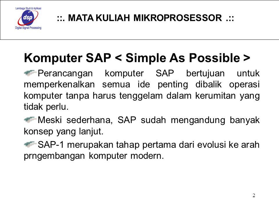 Komputer SAP < Simple As Possible >