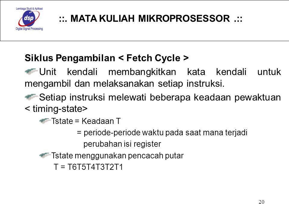 Siklus Pengambilan < Fetch Cycle >