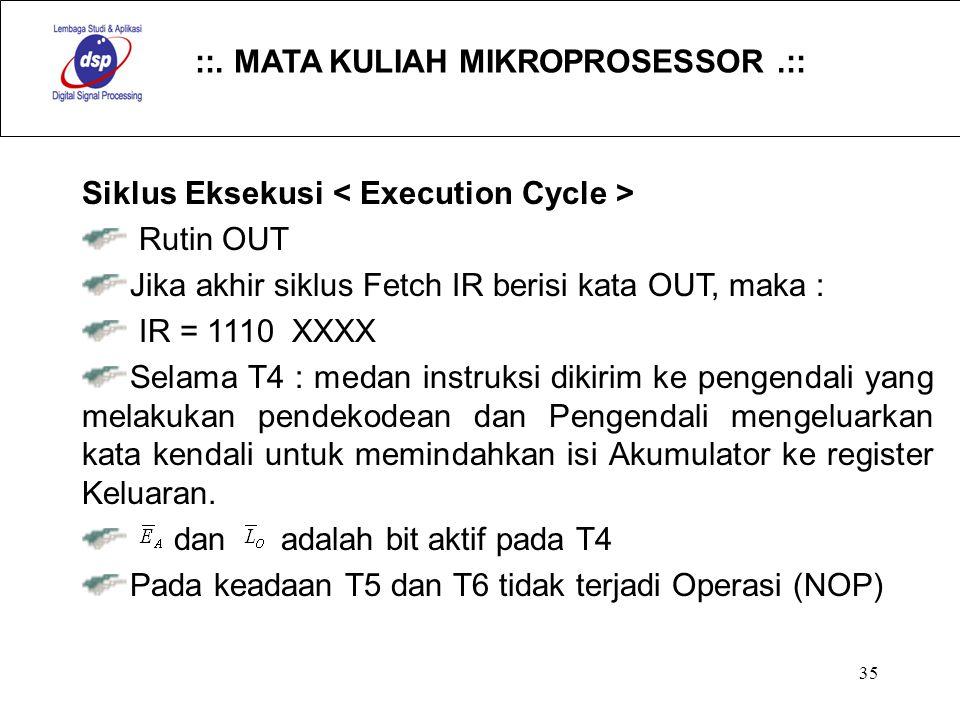 Siklus Eksekusi < Execution Cycle >