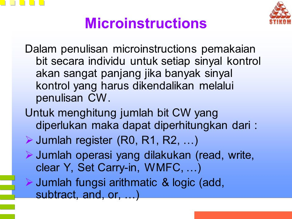 Microinstructions