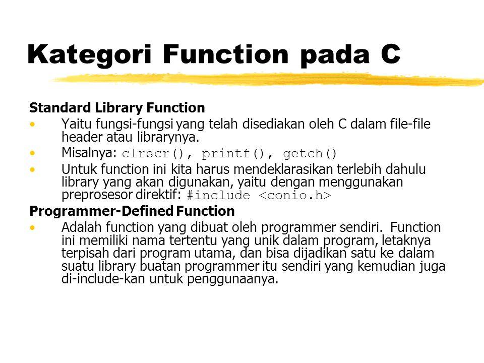 Kategori Function pada C