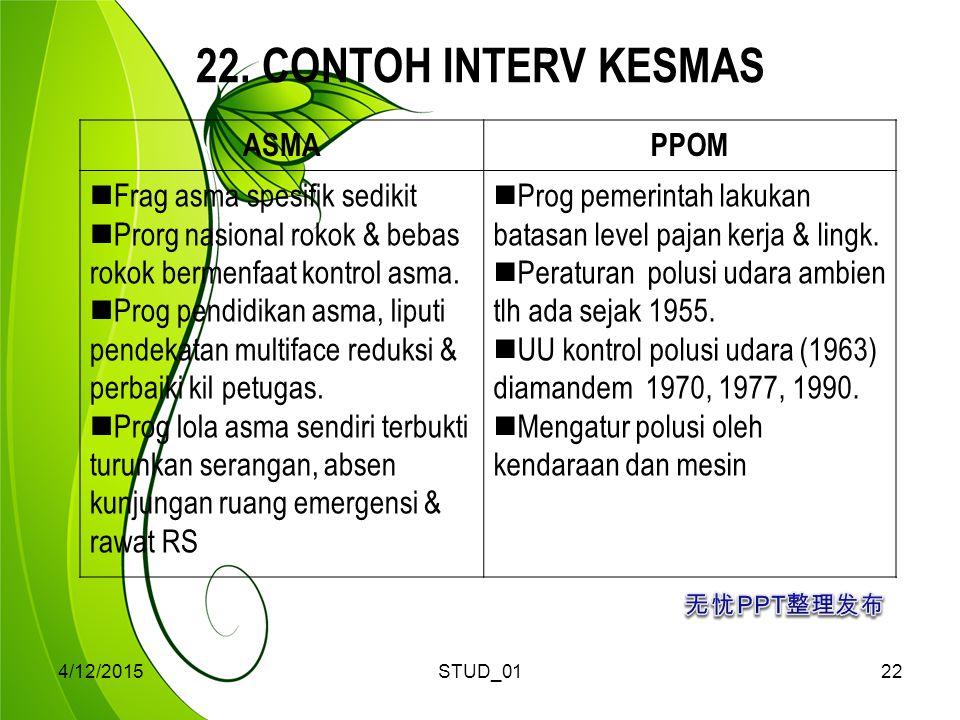 22. CONTOH INTERV KESMAS ASMA PPOM Frag asma spesifik sedikit