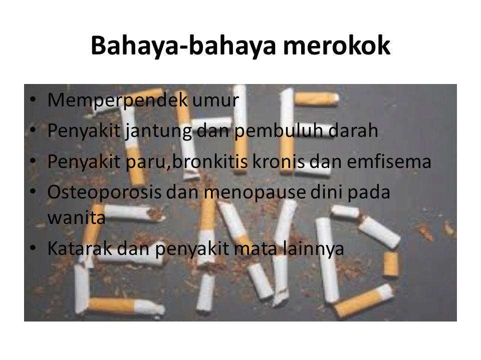 Bahaya-bahaya merokok