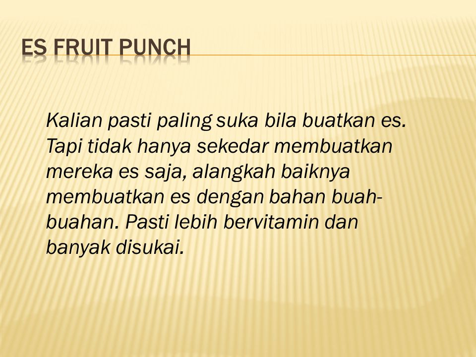 Es Fruit Punch