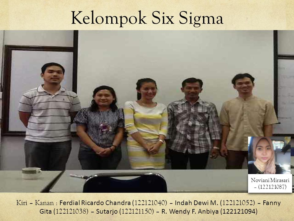 Kelompok Six Sigma Noviani Mirasari – (122121087)