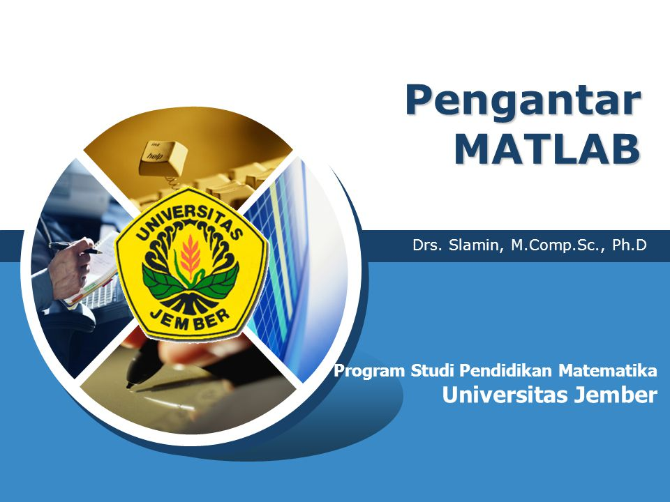 Pengantar MATLAB Universitas Jember